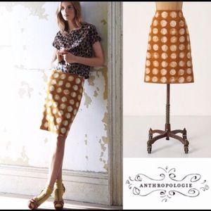 Anthropologie Pencil Skirt w/Circles